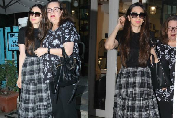 karishma kapoor spotted at salon with her mother