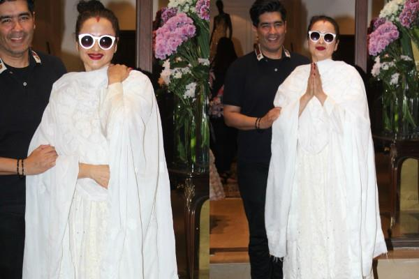 rekha spotted at manish manhotra store