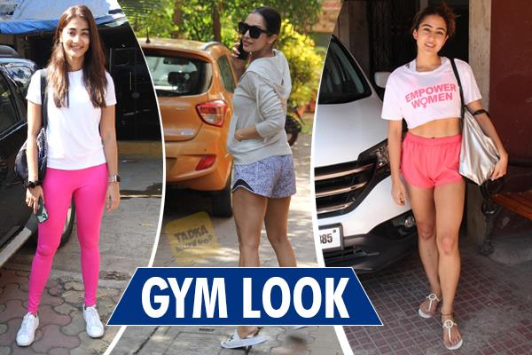 malaika sara and pooja hegde spotted at gym