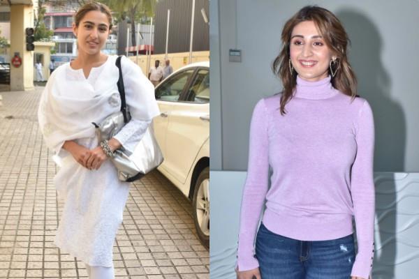 sara and dhvani looked stunning