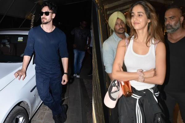 disha patani tiger shroff spotted at gym