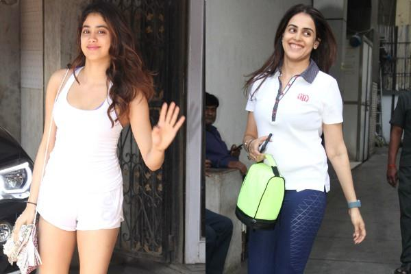 genelia and janhvi kapoor at gym