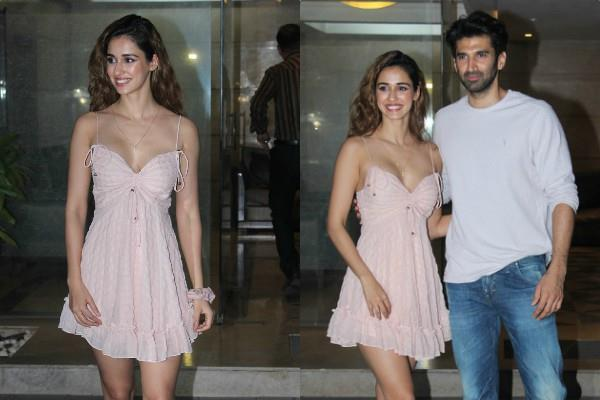 disha patani looks bold as she spotted at aditya roy kapur house party