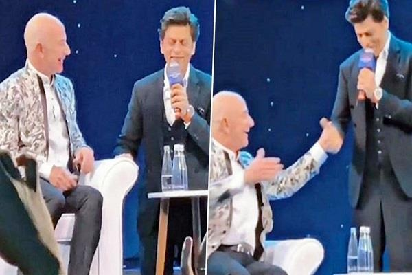 shah rukh khan tells jeff bezos he is humble only because of this