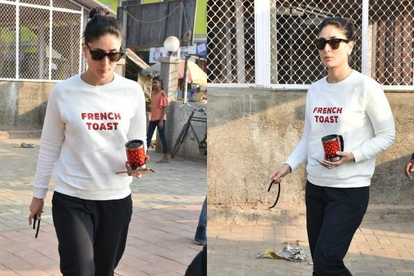kareena kapoor khan styles casual for her outing