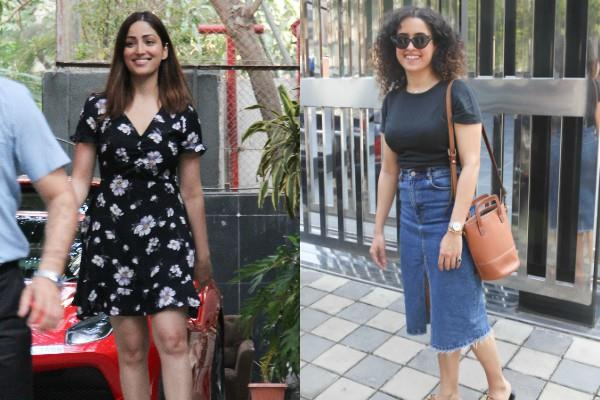 sanya malhotra and yami gautam spotted at bandra
