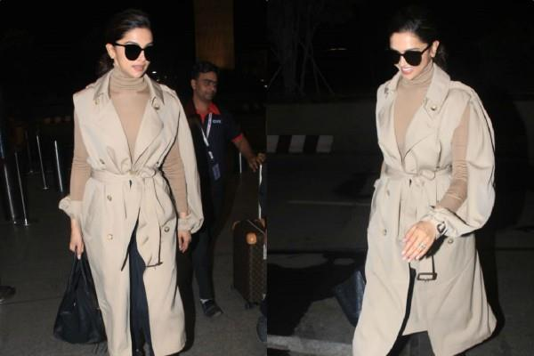deepika padukone look super stylish as she spotted at airport