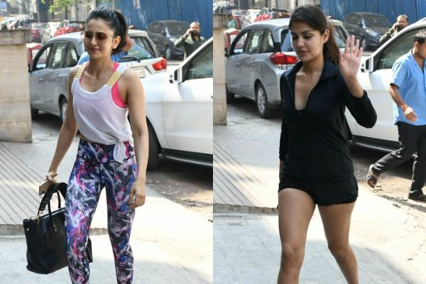 rhea and rakul preet spotted outside the cafe