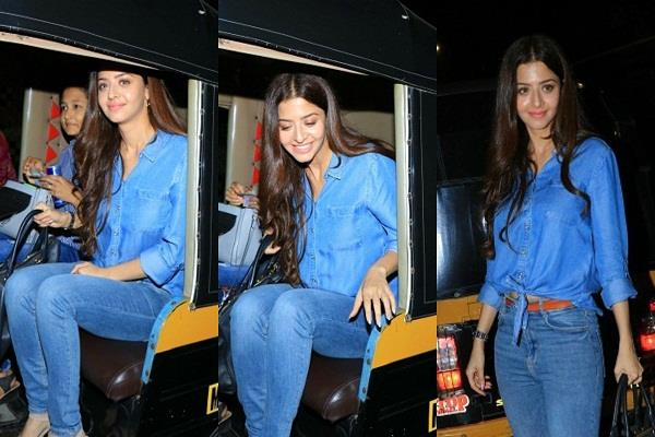 vedika arrived in versova looked beautiful in denim look