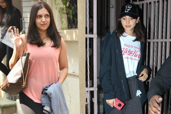 bhumi pednekar and anushka sharma spotted at bandra