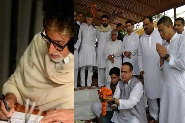 amitabh bachchan got emotional family reached haridwar to do bone immersion