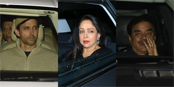 hema malini hrithik and other attend sanjay khan birthday bash