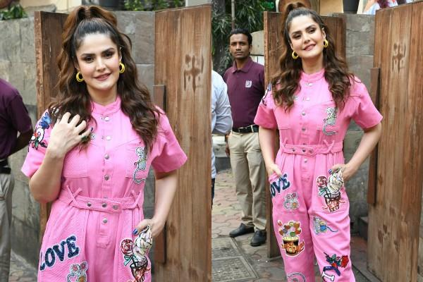 zareen khan promoting upcoming show jeep bollywood trails