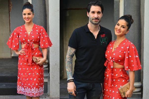 sunny leone looked perfect with husband daniel weber
