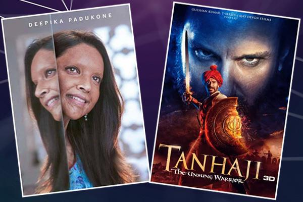 tanhaji vs chhapaak box office know about ajay and deepika films collection