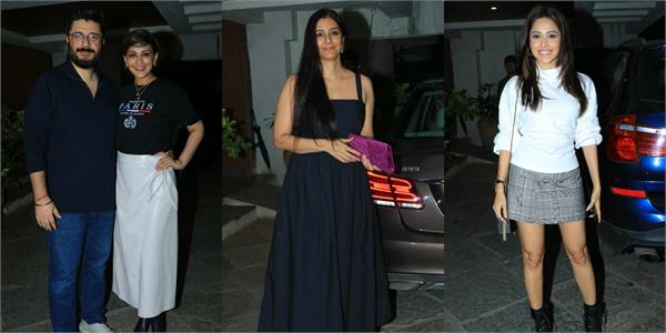 tabu nushrat and other stars attend goldie behl birthday party