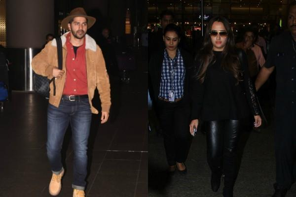 varun dhawan natasha dalal stylish appearance at airport