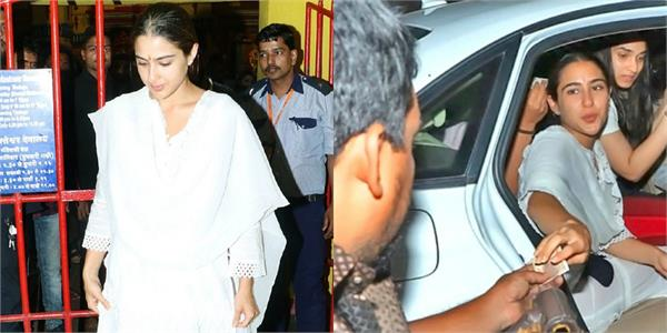 sara ali khan visit temple with mother and helps roadside poor man