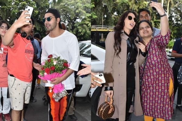 varun dhawan and nora fatehi make a stylish appearance at the airport