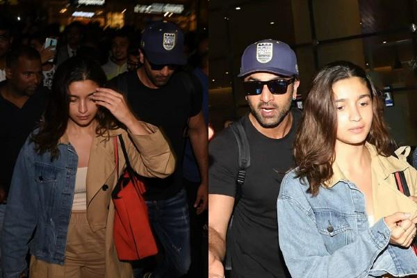 ranbir kapoor become protective boyfriend to alia bhatt at airport