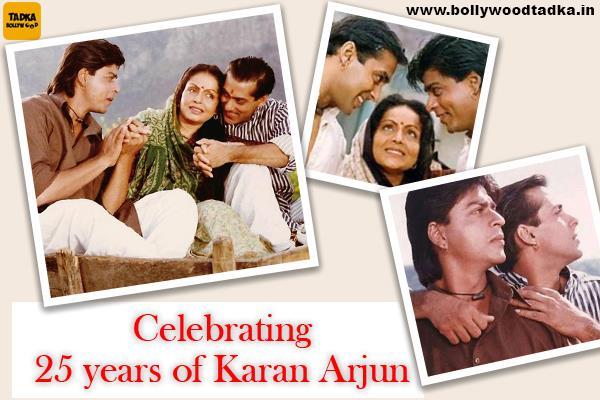 salman shahrukh stare karan arjun completes 25 years