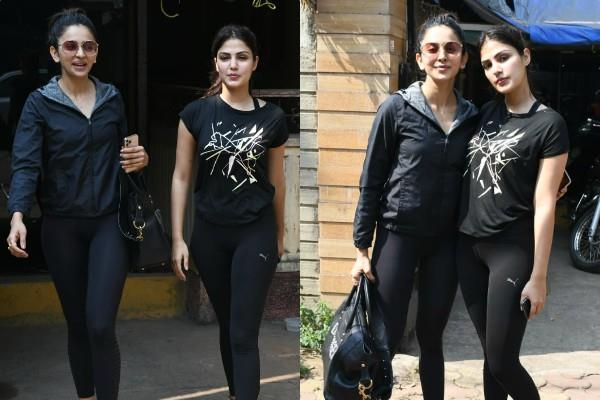 rhea and rakul preet spotted outside the gym