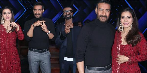 ajay devgn and kajol spotted on the sets of dance plus 5 for movie promotion