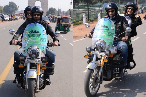 disha and aditya promotes film in delhi
