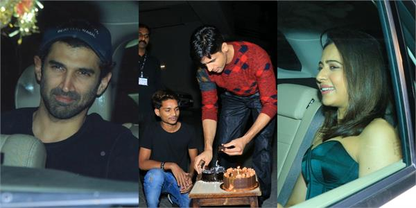 stars spotted at sidharth malhotra house on his birthday