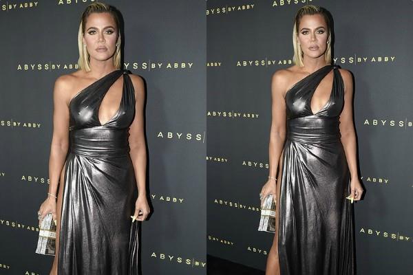 kim kardashian sister khloe kardashian looks glamorous