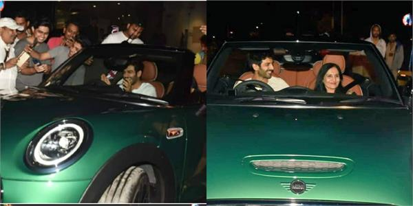 kartik aaryan gifted mom luxury car on birthday