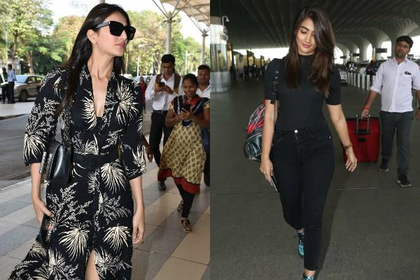 vaani kapoor and pooja hegde spotted at airport