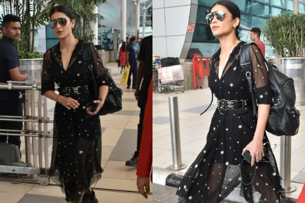 shruti haasan spotted at mumbai airport