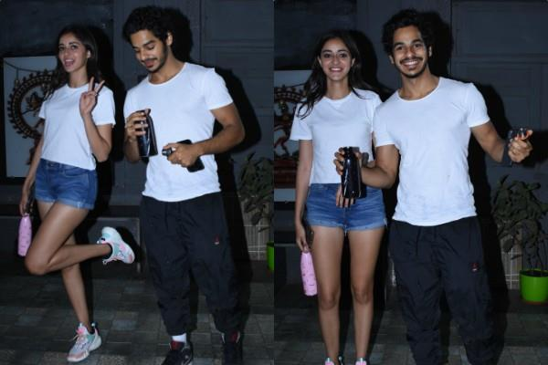 ananya panday and ishaan khattar spotted outside the dance class