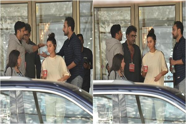 farhan shibani and zoya snapped after visiting shabana azmi at the hospital
