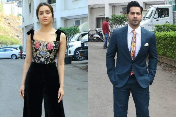 shraddha and varun spotted at indian idol set for film promotion
