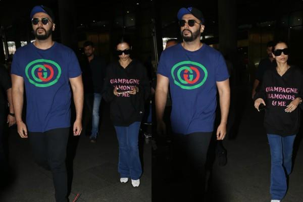 malaika and arjun kapoor spotted at airport