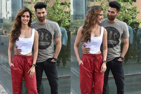 disha patani and aditya roy kapoor promotes the film