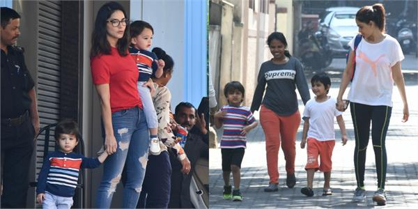 sunny leone and genelia with their kids