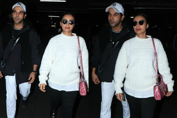 rajkumar rao spotted at airport with his girlfriend