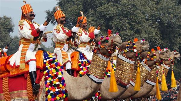 bsf republic day camel parade rajasthan president