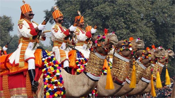 bsf republic day camel parade rajasthan president