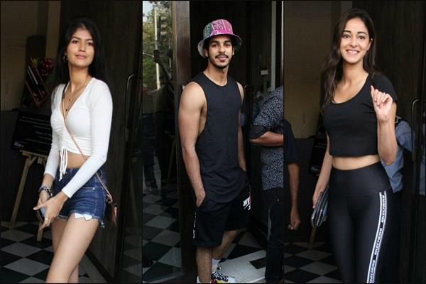 ananya and ishaan khattar seen in all black outfit