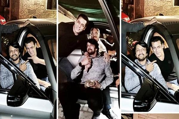 salman khan gifts his co star kichcha sudeep an expensive car