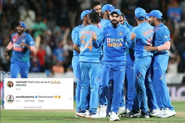 anushka sharma commented on team india victory