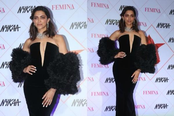 deepika padukone looks gorgeous in deep neckline dress