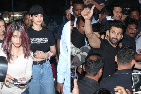 aditya roy kapoor disha patani reached theater for public views
