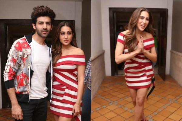 sara ali khan wears same dress within 9 days during love aaj kal promotion