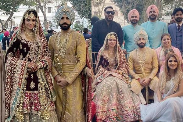 gurdas maan son gurickk tie the knot with former miss india simran kaur mundi