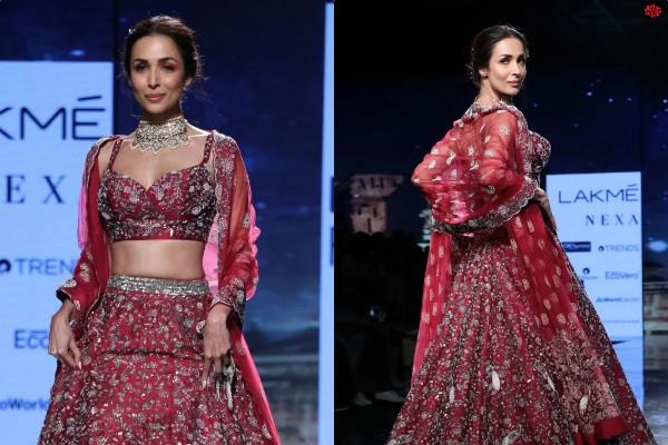 malaika arora stunning look at lakme fashion week 2020